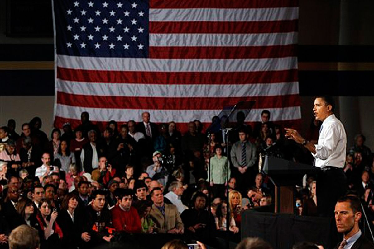 President Obama speaks about health care reform in Strongsville, Ohio on Monday.