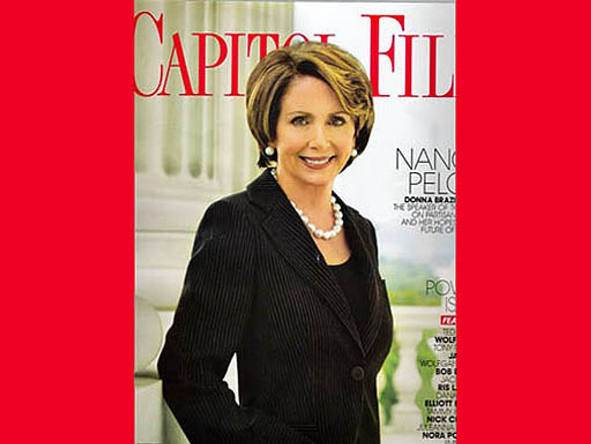 Nancy Pelosi on the cover of May/June 2010 Capitol File magazine.