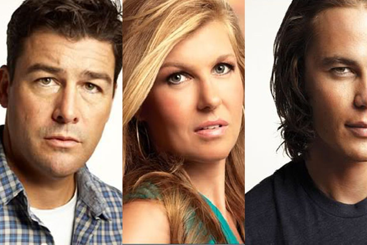 """Kyle Chandler, Connie Britton and Taylor Kitsch from """"Friday Night Lights."""""""