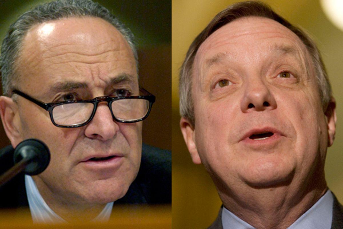 Senator Chuck Schumer (D-NY) and U.S. Senator Richard Durbin (D-IL)