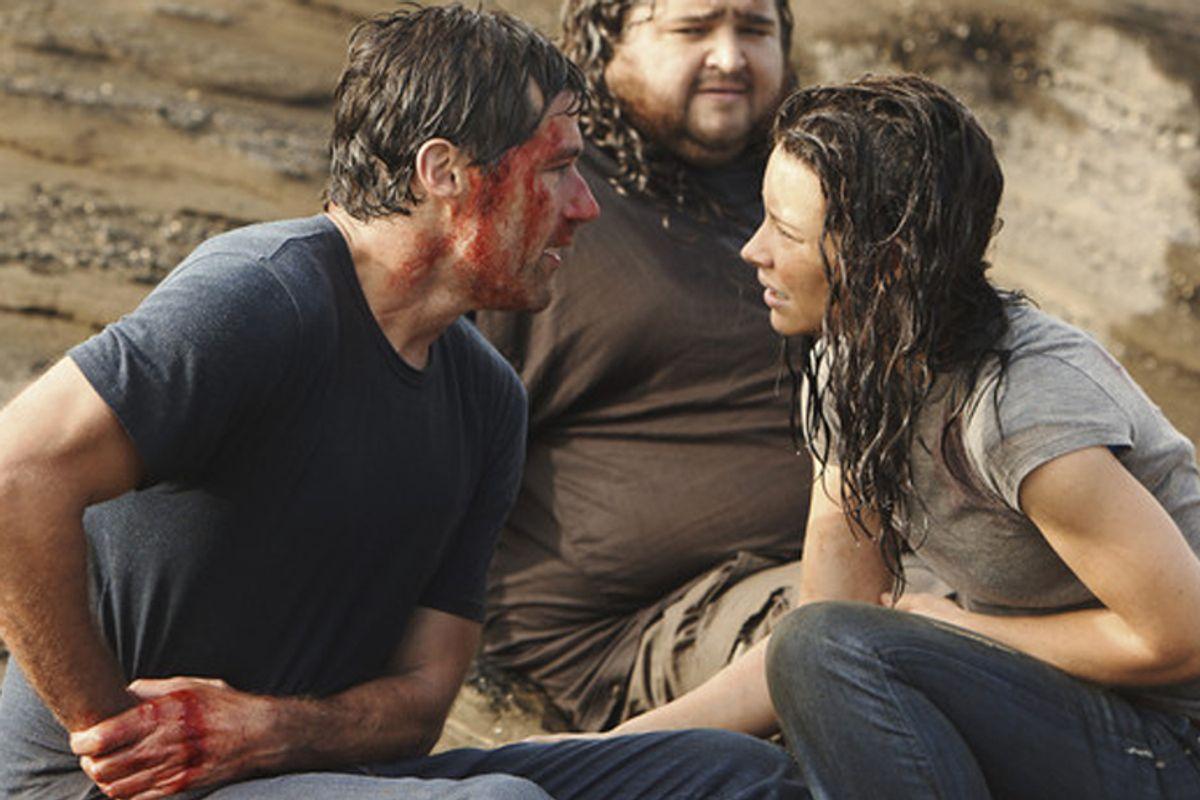 "Matthew Fox, Jorge Garcia and Evangeline Lilly from ""Lost"""
