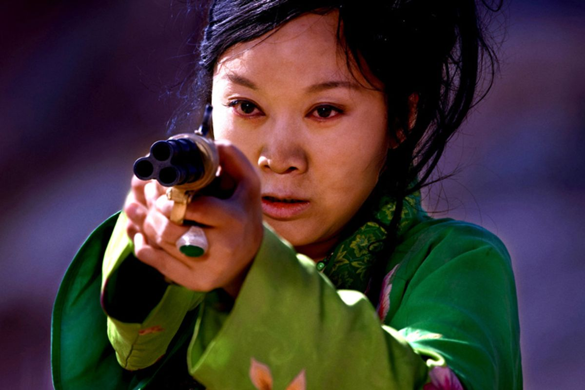 """A still from """"A Woman, a Gun and a Noodle Shop"""""""