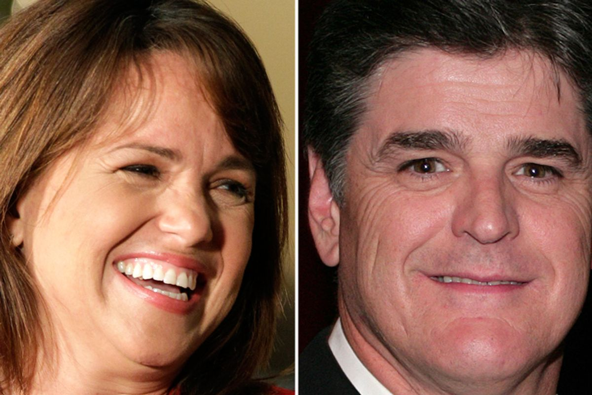 Christine O'Donnell and Sean Hannity