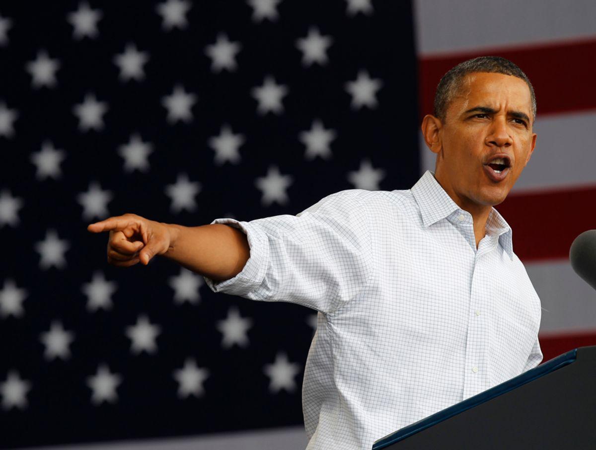 ARCHIV: President Barack Obama gestures as he speaks on the economy at the Milwaukee Laborfest in Milwaukee, Monday, Sept. 6, 2010. (zu dapd-Text) Foto: Pablo Martinez Monsivais/dapd/AP (Foto vom 2010:09:06) (Pablo Martinez Monsivais/dapd)