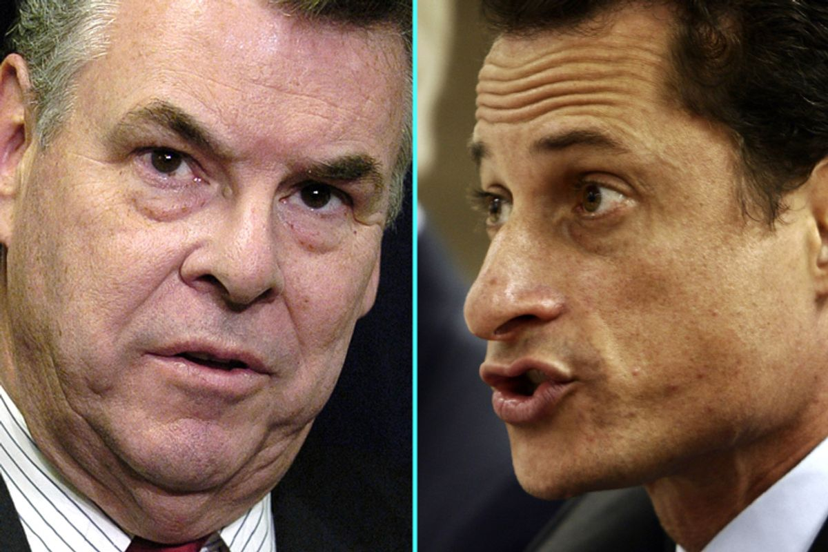 Peter King and Anthony Weiner
