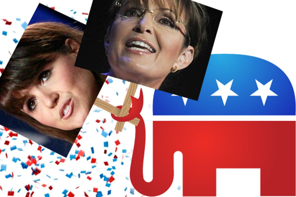 Christine O'Donnell and Sarah Palin