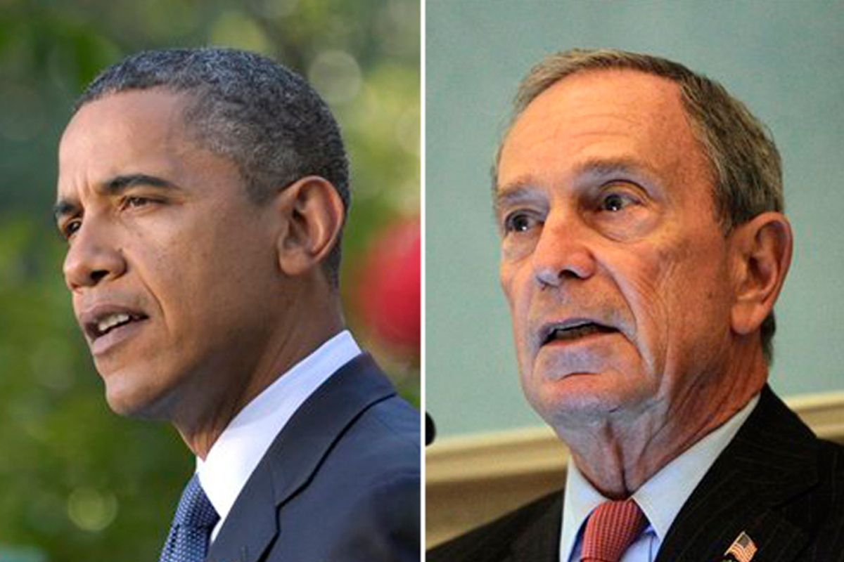 President Obama and Michael Bloomberg