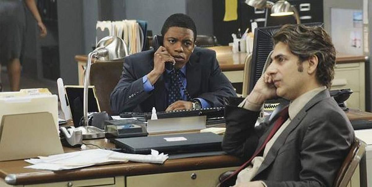"""Michael Imperioli (right) and Jon Michael Hill in """"Detroit 1-8-7"""""""