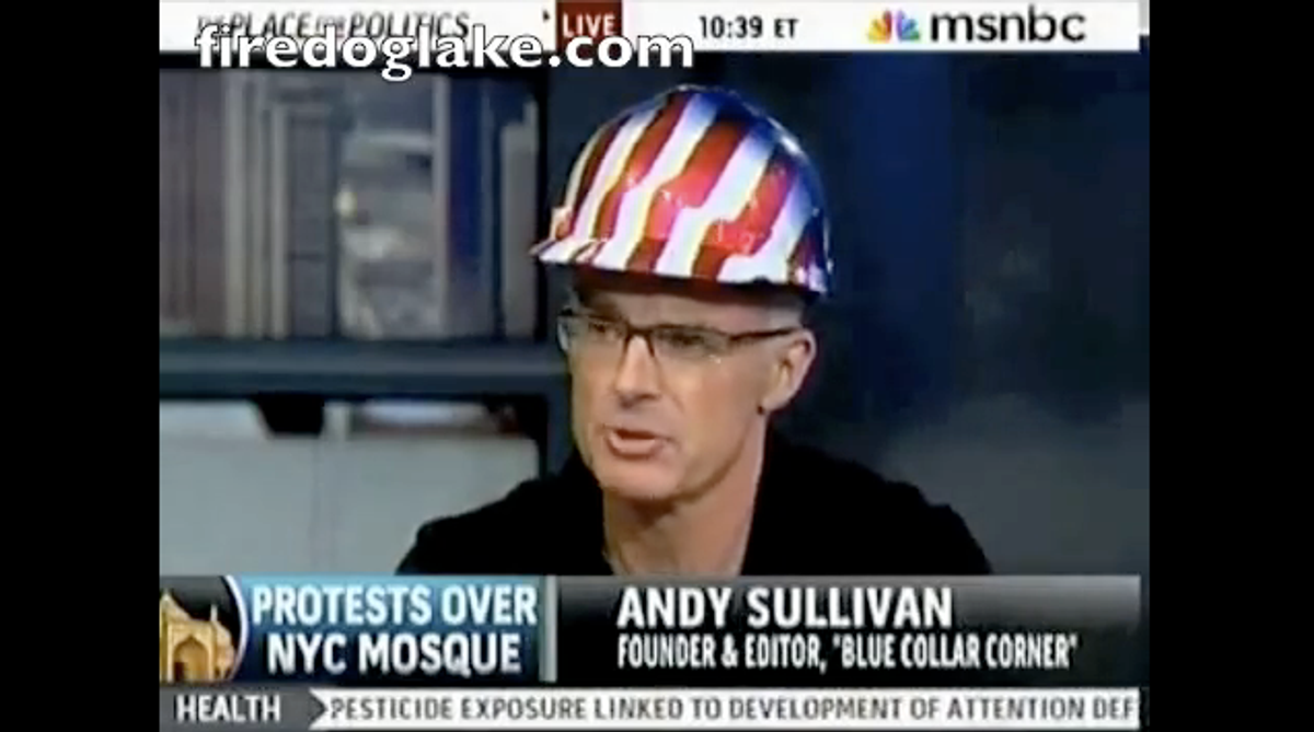 Andy Sullivan, a New York construction worker opposed to Park51.