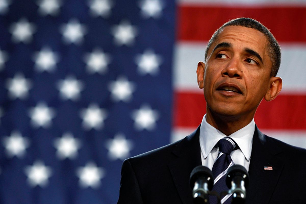 U.S. President Barack Obama speaks about the economy at the Cuyahoga Community College West Campus in Parma, Ohio, near Cleveland, September 8, 2010. REUTERS/Larry Downing (UNITED STATES - Tags: POLITICS)  (© Larry Downing / Reuters)