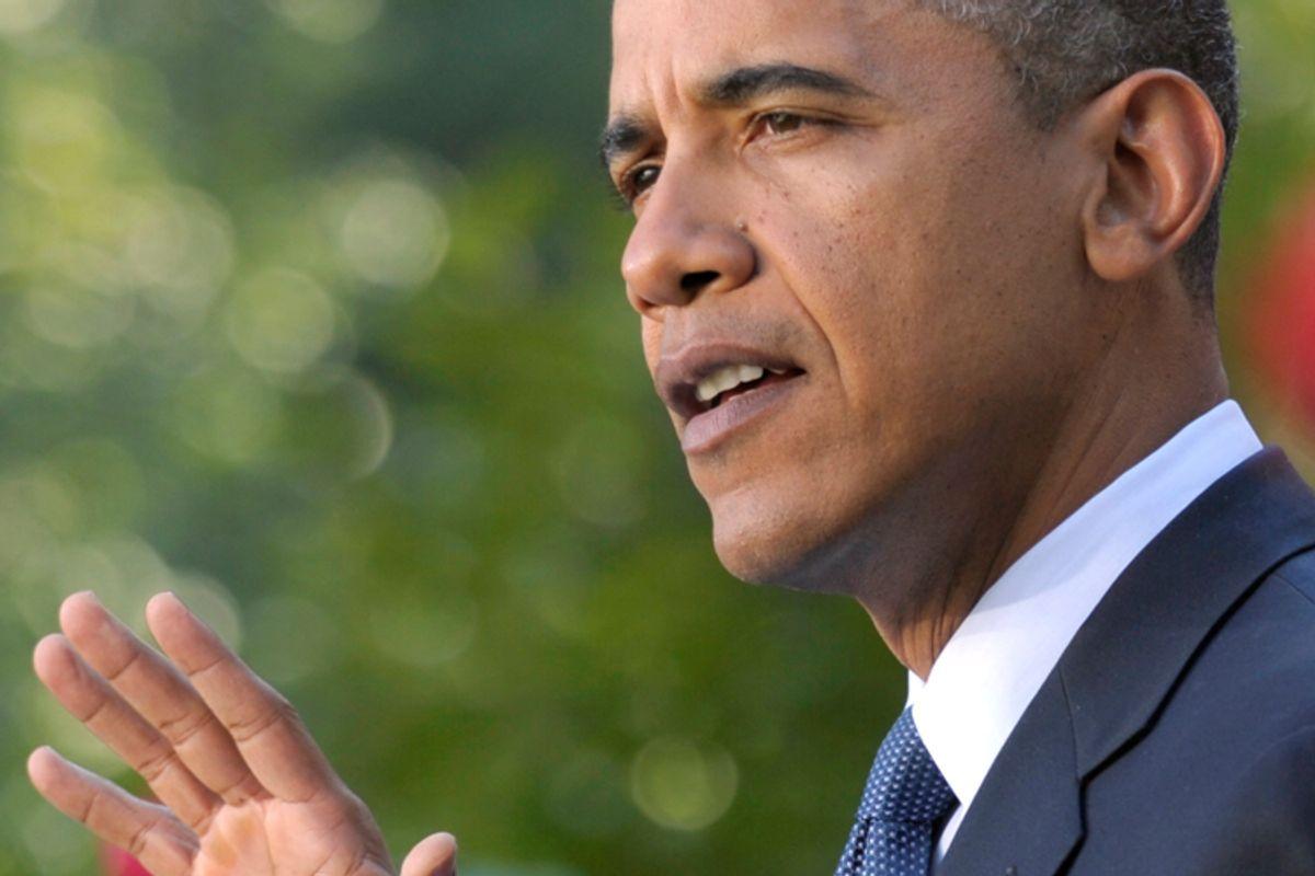 President Obama speaks about the economy on Wednesday.
