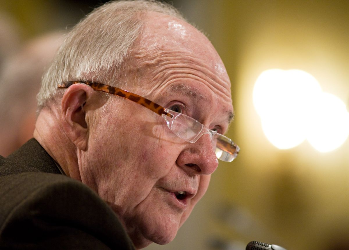 Lee Hamilton, co-chair, Blue Ribbon Commission on America's Nuclear Future Agenda, Thursday, March 25, 2010, speaks during the group's meeting in Washington. (AP Photo/Cliff Owen) (Cliff Owen)