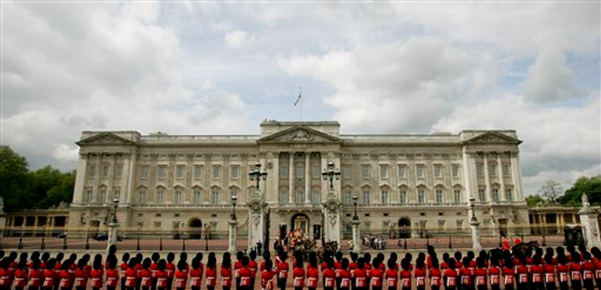 FILE - This is a Tuesday, May. 17, 2005 file photo of  Buckingham Palace in London. A government fund intended to provide subsidized heating to low-income Britons got an application from an unexpected citizen: Queen Elizabeth II, who wanted help paying the heating bills at Buckingham Palace. The official response, according to documents unearthed by a British newspaper, Friday Sept. 24, 2010,  was that the handout might prove to be an embarrassment if word ever got out.   (AP Photo/Matt Dunham, File) (AP)