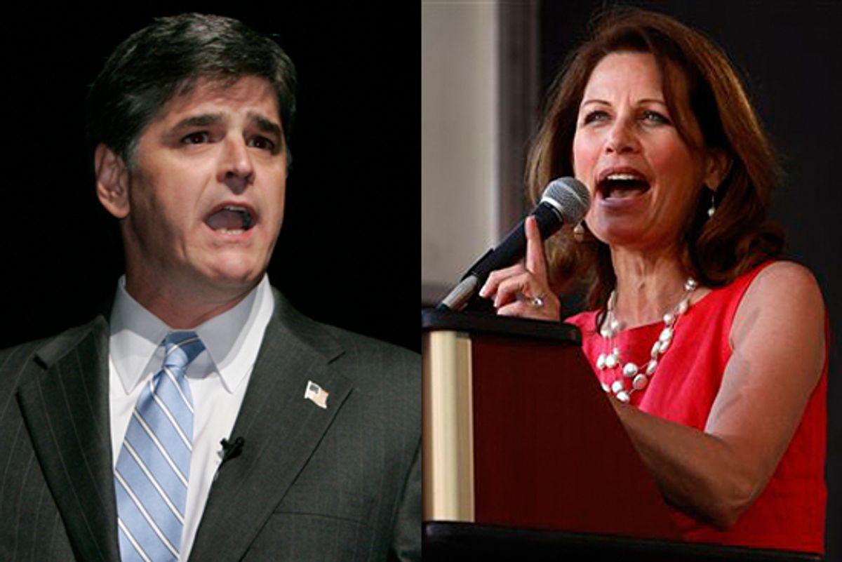 Sean Hannity and Rep. Michele Bachmann, R-Minn.