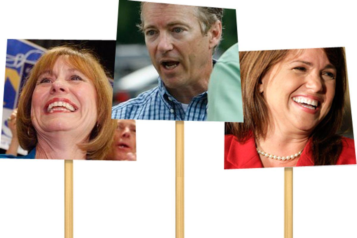 Sharron Angle, Rand Paul, Christine O'Donnell