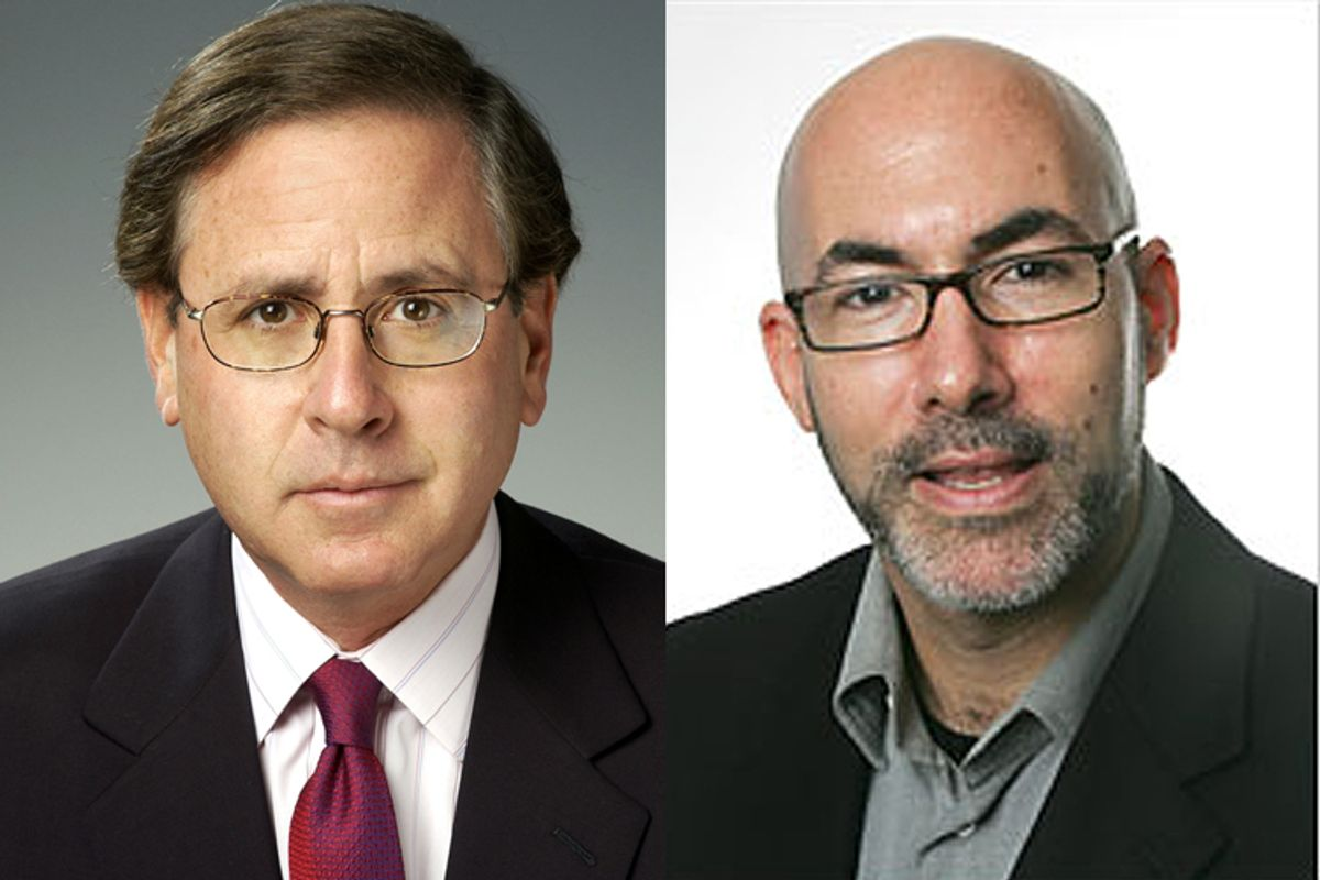 Howard Fineman, left, and Peter Goodman.