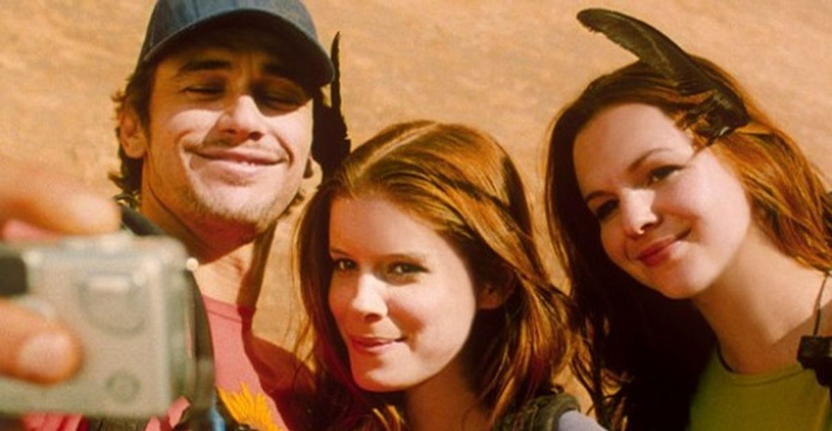 """James Franco, Kate Mara and Amber Tamblyn in """"127 Hours"""""""