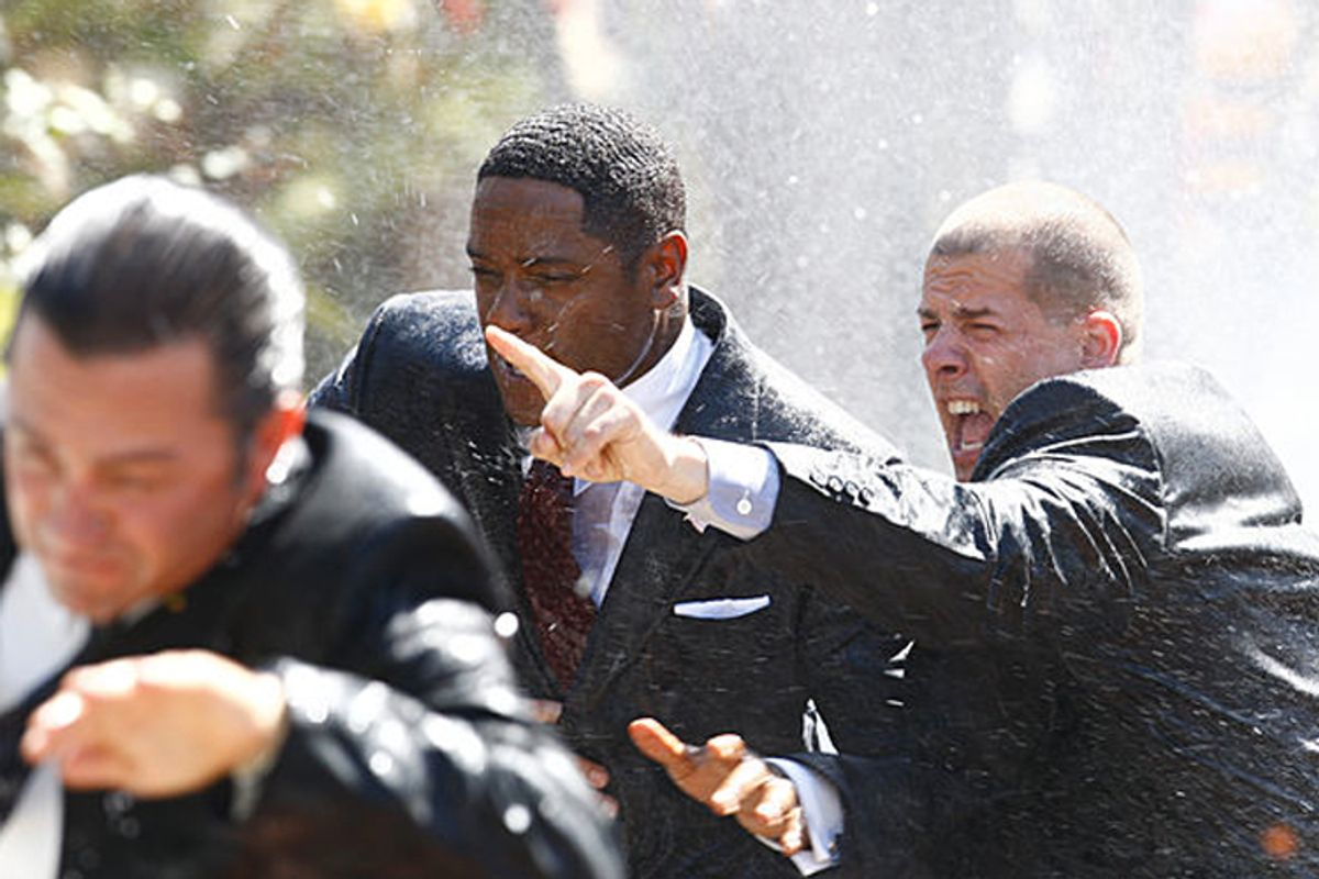 """Blair Underwood (center) in """"The Event"""""""