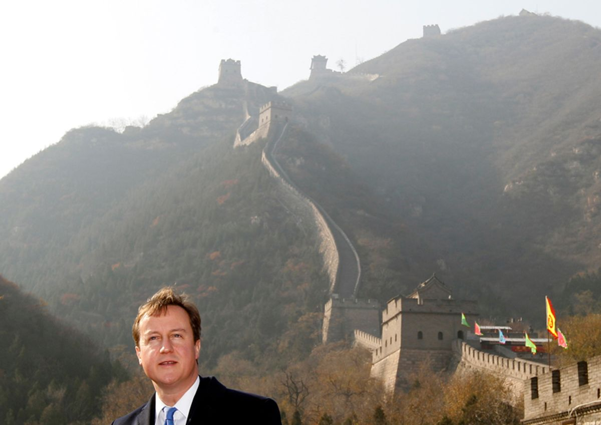 Britain's Prime Minister David Cameron visits the Great Wall during a trade mission in Beijing November 10, 2010.  REUTERS/Darren Staples   (CHINA - Tags: POLITICS BUSINESS)    (© Darren Staples / Reuters)
