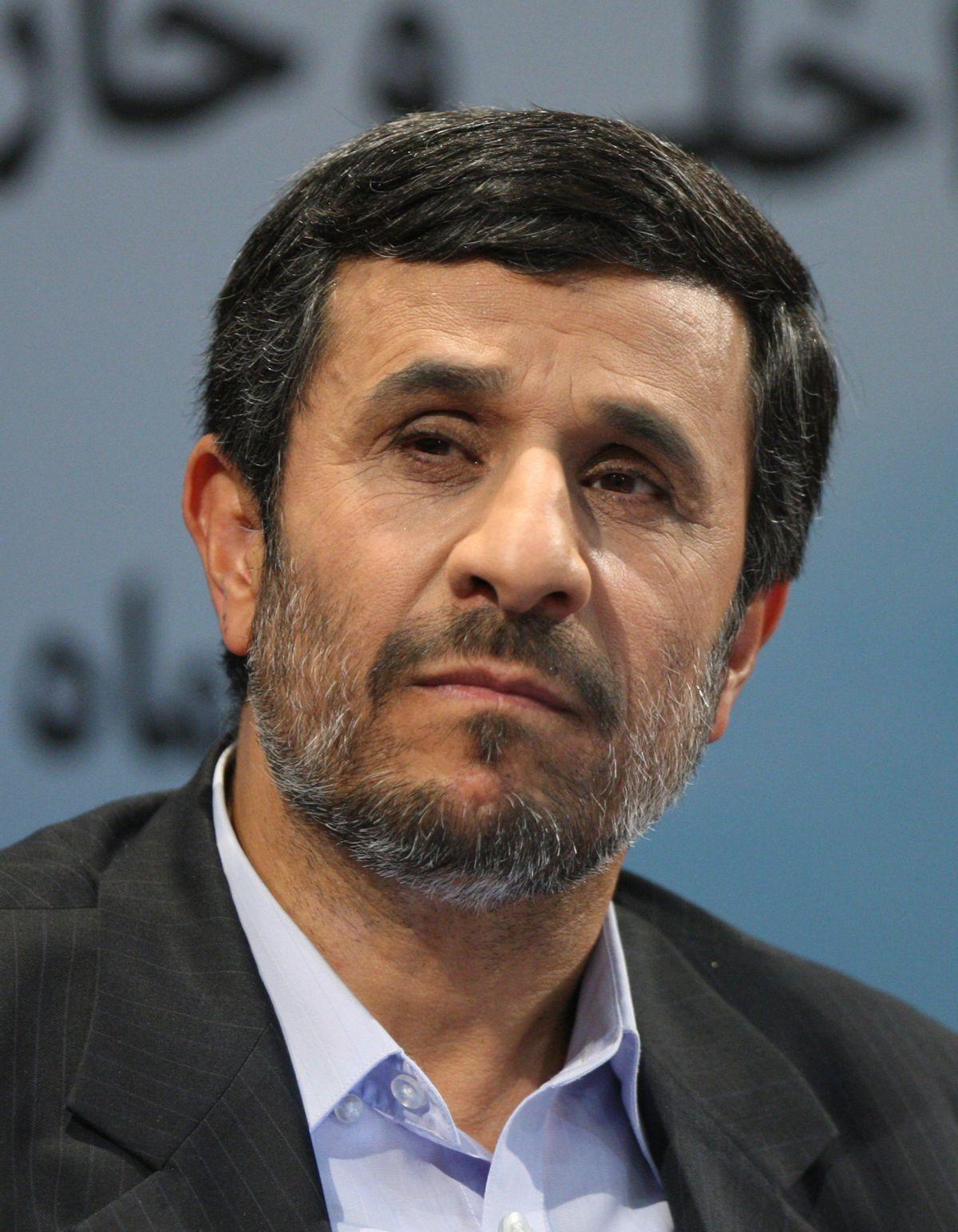 Iranian President Mahmoud Ahmadinejad listens to a question during his press conference in Tehran, Iran, Monday, Nov. 29, 2010. (AP Photo/Vahid Salemi) (Associated Press)