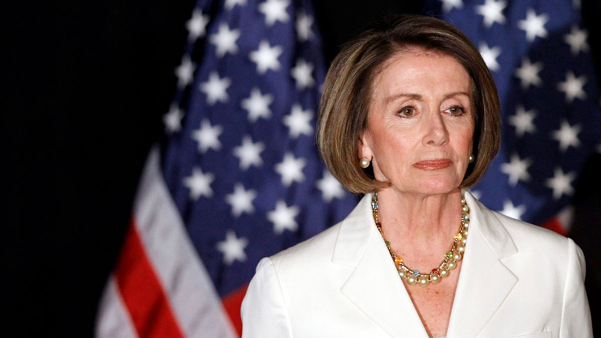 House Speaker Nancy Pelosi of Calif., waits to speak to supporters at an election night party in Washington, Tuesday, Nov. 2, 2010. (AP Photo/Alex Brandon) (Alex Brandon)