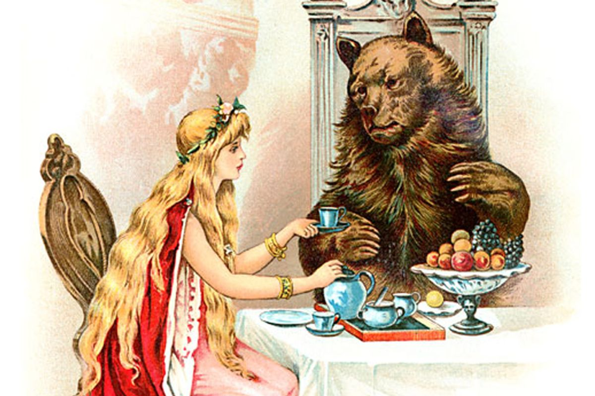 """An illustration from """"Beauty and the Beast"""""""