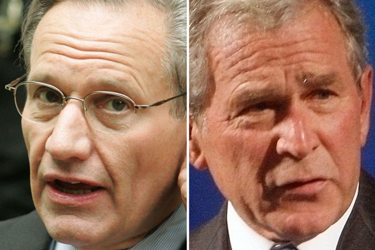 Bob Woodward and George W. Bush