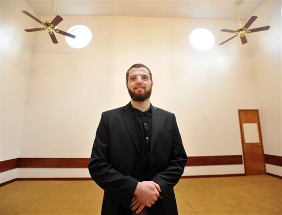 Imam Yosof Wanly, of the Salman Al-Farisi Center, is photographed at the center in Corvallis, Ore. on Saturday, Nov. 27, 2010. Mohamed Osman Mohamud, 19, who allegedly planned a bombing in Portland, Ore. during Friday's Christmas tree lighting ceremony, attended this center. (AP Photo/Steve Dykes)  (AP)