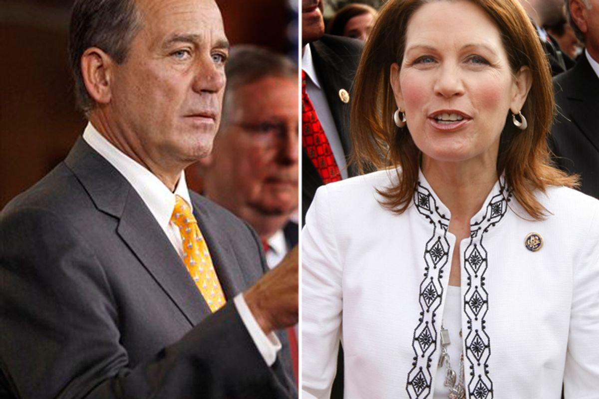 John Boehner and Michele Bachmann