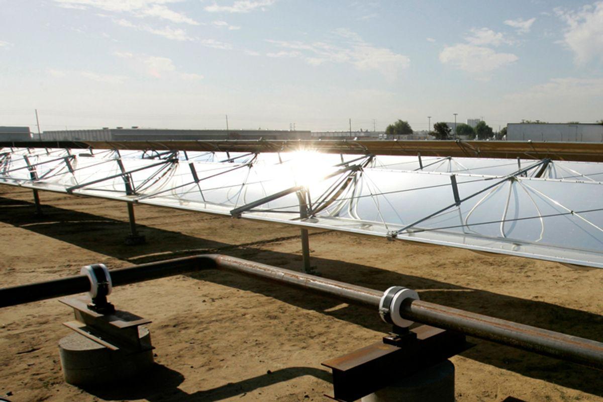 Solar panels in Modesto, Calif.
