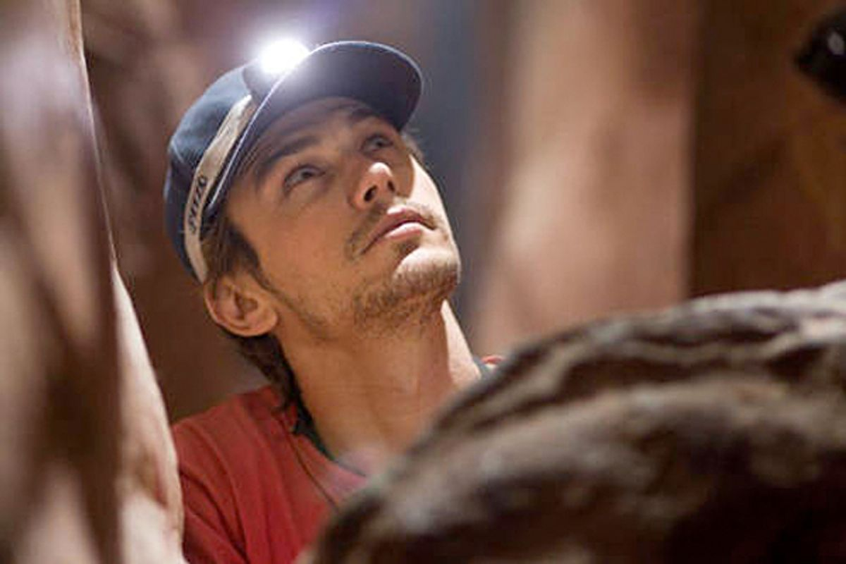 "James Franco in ""127 Hours"""