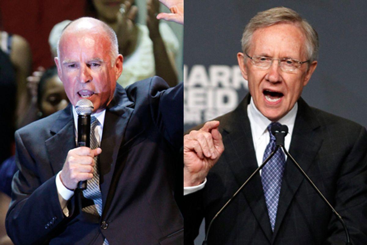 Jerry Brown and Sen. Harry Reid