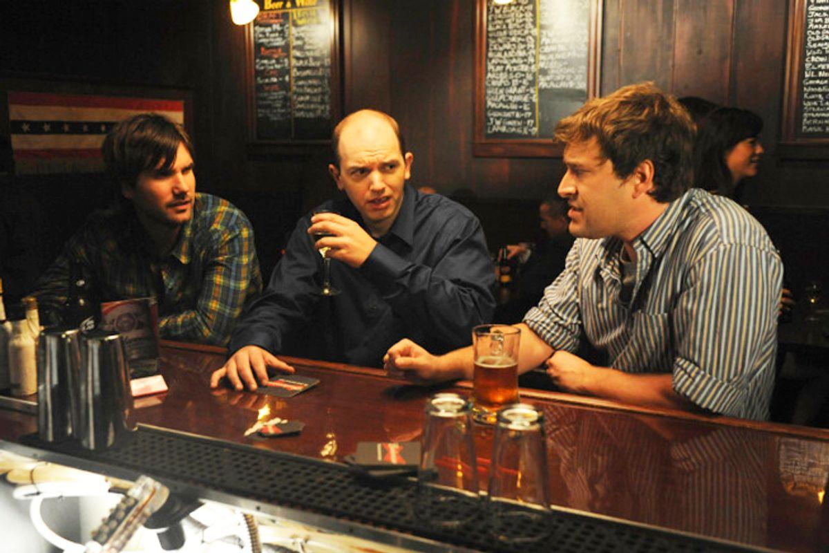 THE LEAGUE: L-R: John Lajoie, Paul Sheer and Mark Duplass. THE LEAGUE airs Thursday, Nov. 19 on FX. CR: Patrick McElhenney / FX