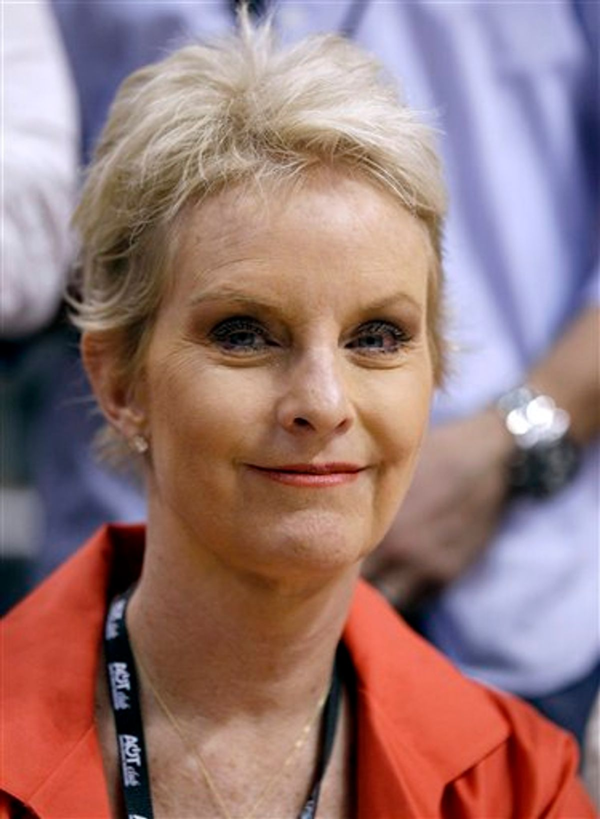 FILE - In this May 25, 2010 file photo, Cindy McCain, wife of Sen. John McCain, R-Ariz., is seen in Phoenix. McCain, the wife of 2008 Republican presidential nominee John McCain, is speaking out against the ban on gays serving openly in the military while her husband is working to maintain it. (AP Photo/Ross D. Franklin, File)    (AP)