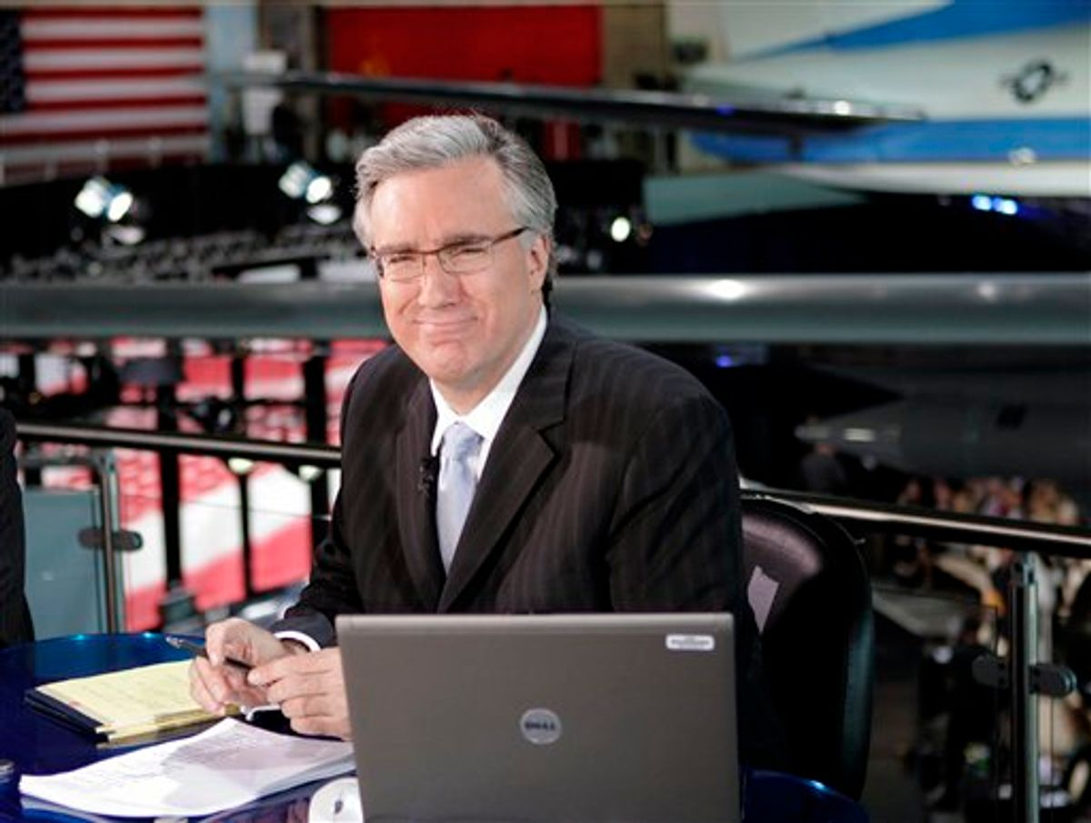 FILE - In this May 3, 2007 file photo, Keith Olbermann of MSNBC poses at the Ronald Reagan Library in Simi Valley, Calif.,  (AP Photo/Mark J. Terrill, file) (AP)