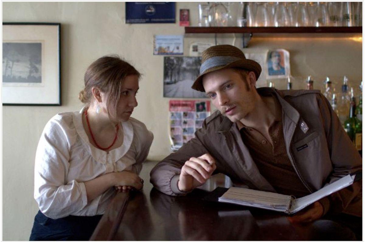 """Lena Dunham and David Call in """"Tiny Furniture"""""""