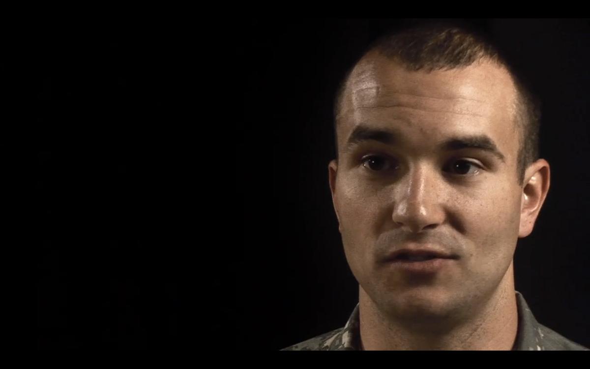 "Staff Sgt. Sal Giunta in ""The Sal Giunta Story"", an online video by Sebastian Junger and Tim Hetherington"
