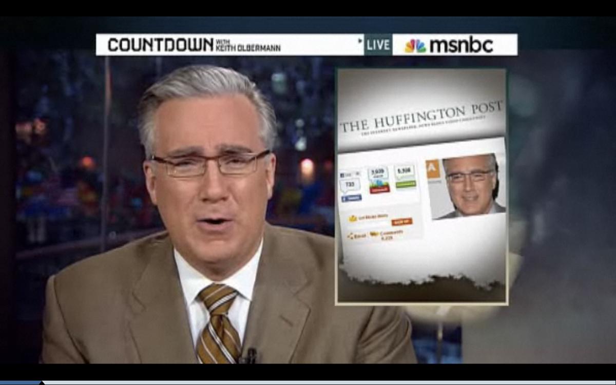 "Keith Olbermann on ""Countdown"" Tuesday night"