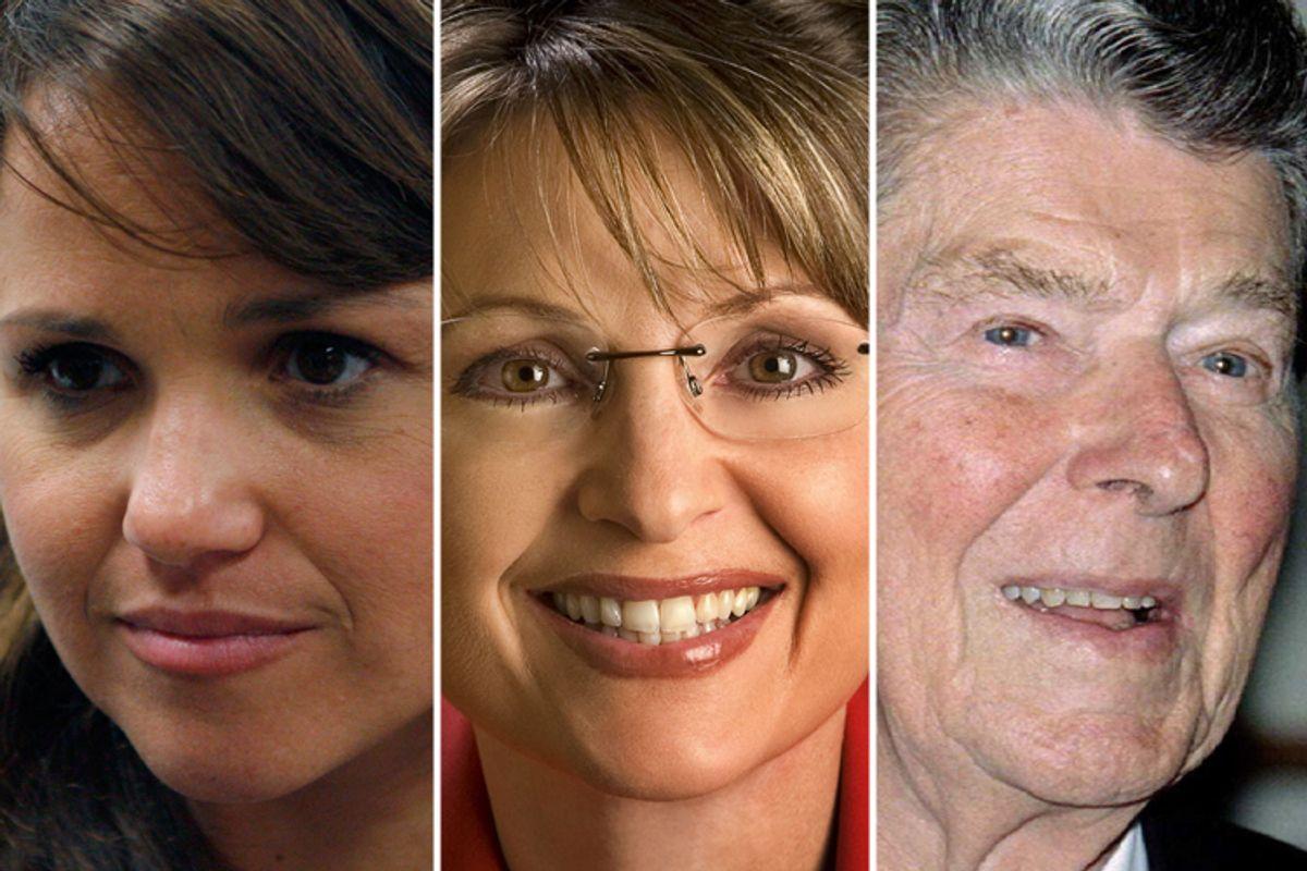 Christine O'Donnell, Sarah Palin and Ronald Reagan