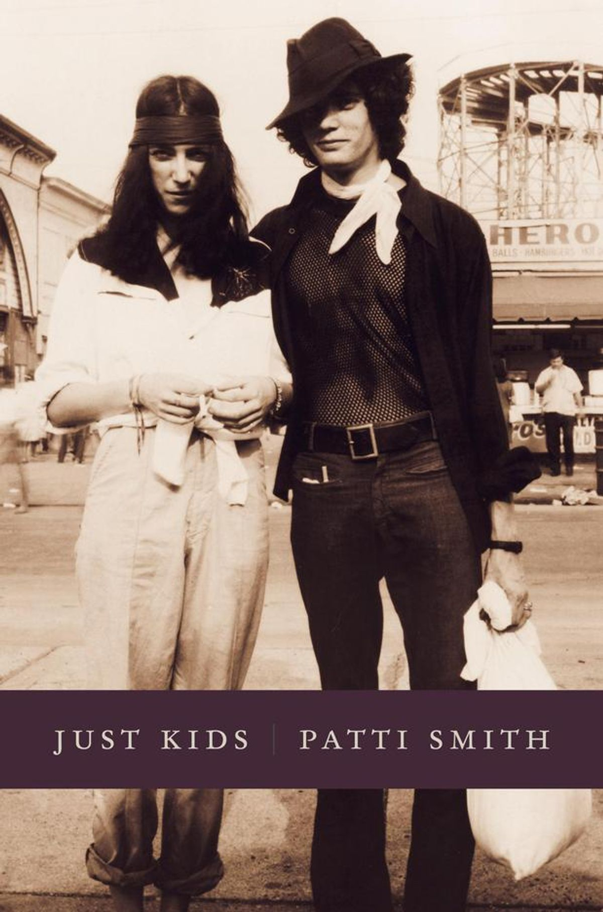 """Patti Smith and Robert Mapplethorpe on the cover of her National Book Award-winning """"Just Kids"""""""