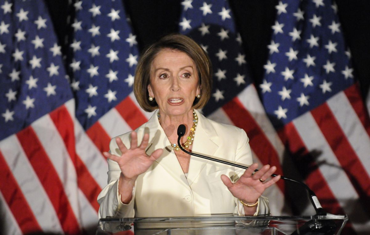 U.S. House Speaker Nancy Pelosi (D-CA) hosts a Democratic congressional election night results watch rally, in Washington, November 2, 2010.     REUTERS/Jonathan Ernst (UNITED STATES - Tags: POLITICS ELECTIONS) (© Jonathan Ernst / Reuters)