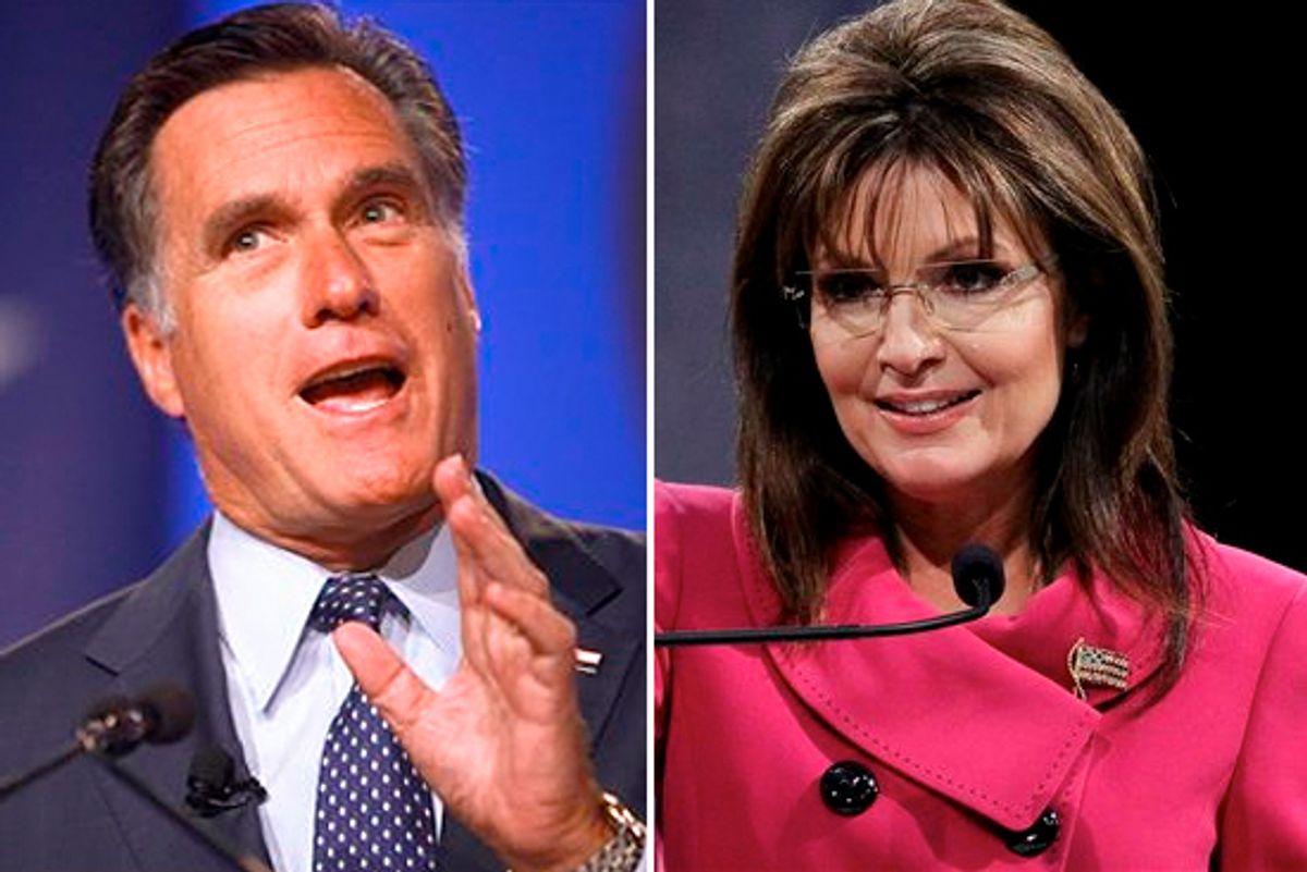 Mitt Romney and Sarah Palin