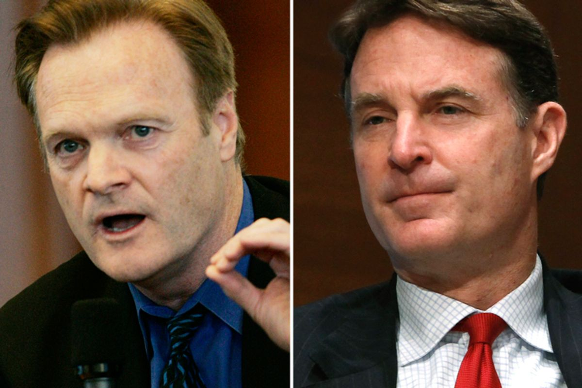 Lawrence O'Donnell and Evan Bayh