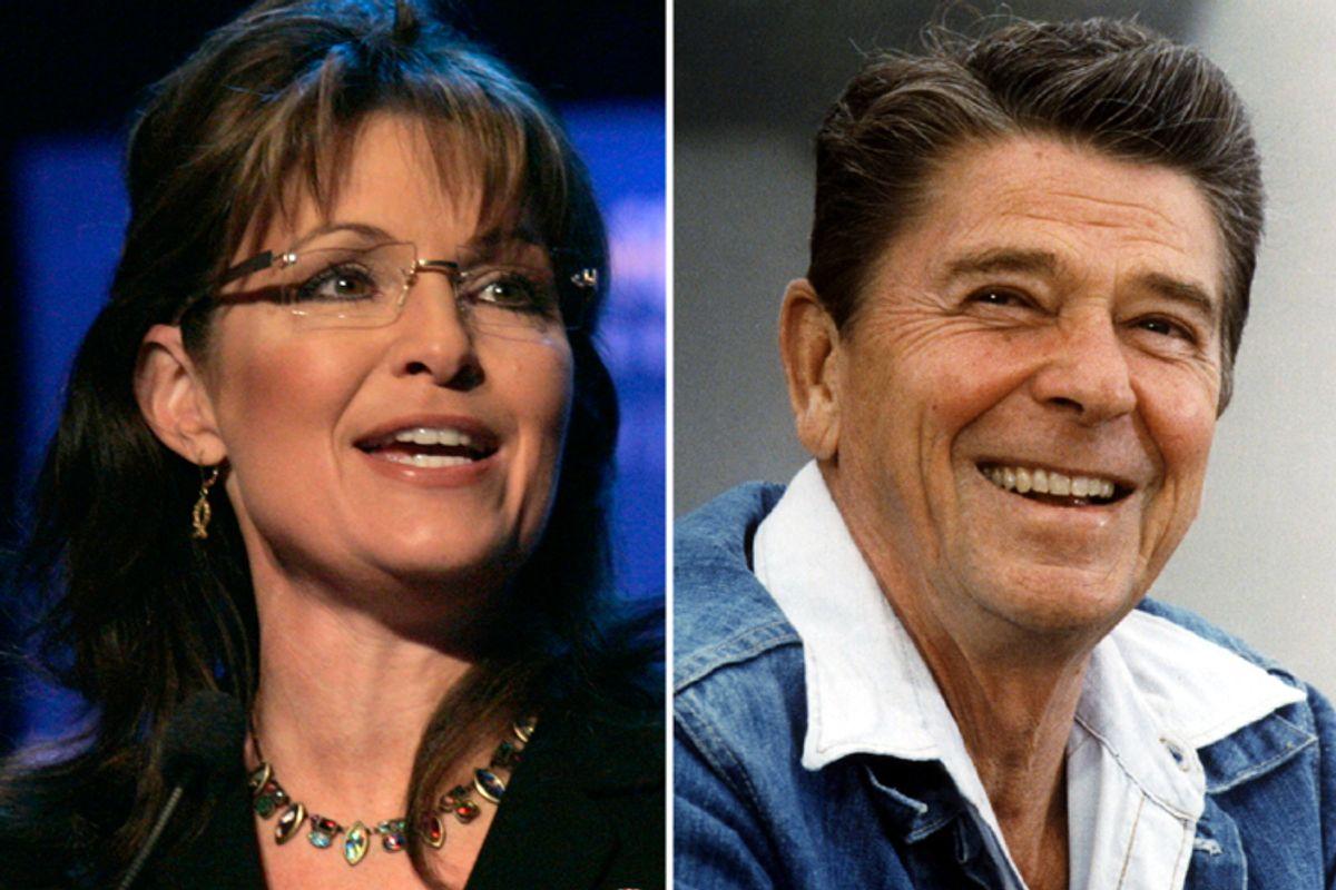 Sarah Palin and Ronald Reagan