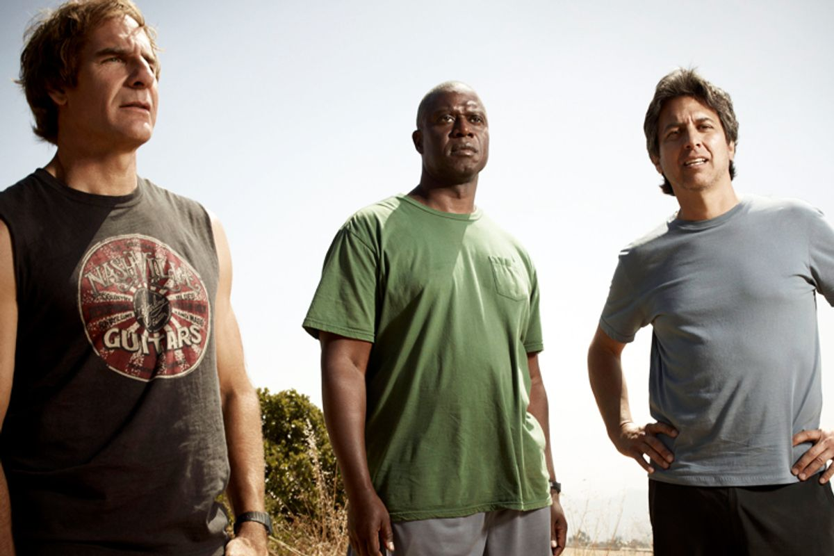 """Scott Bakula, Andre Braugher and Ray Romano in """"Men of a Certain Age"""""""
