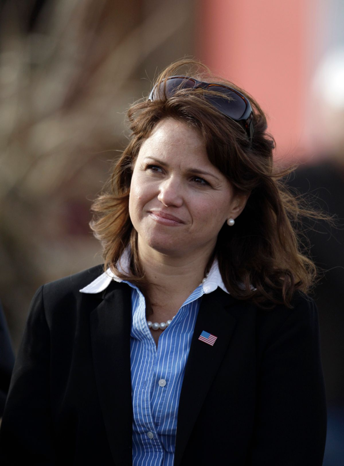 Delaware Republican Senate candidate Christine O'Donnell waits to speak during a campaign rally, Saturday Oct. 30, 2010, in Middletown, Del. (AP Photo/Rob Carr) (Rob Carr)