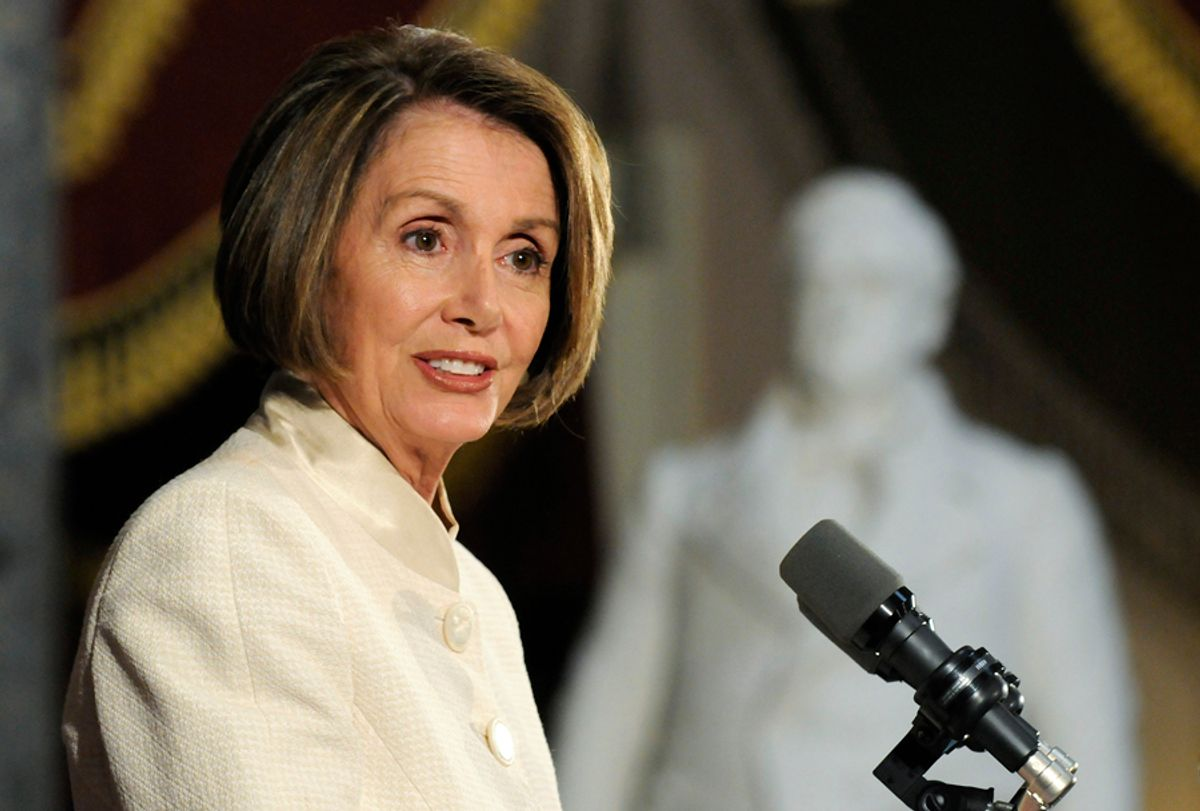 U.S. House Speaker Nancy Pelosi (D-CA) addresses a ceremony commemorating the 60th anniversary of the Korean War, at the U.S. Capitol in Washington, June 24, 2010.  REUTERS/Jonathan Ernst (UNITED STATES - Tags: POLITICS MILITARY ANNIVERSARY) (© Jonathan Ernst / Reuters)