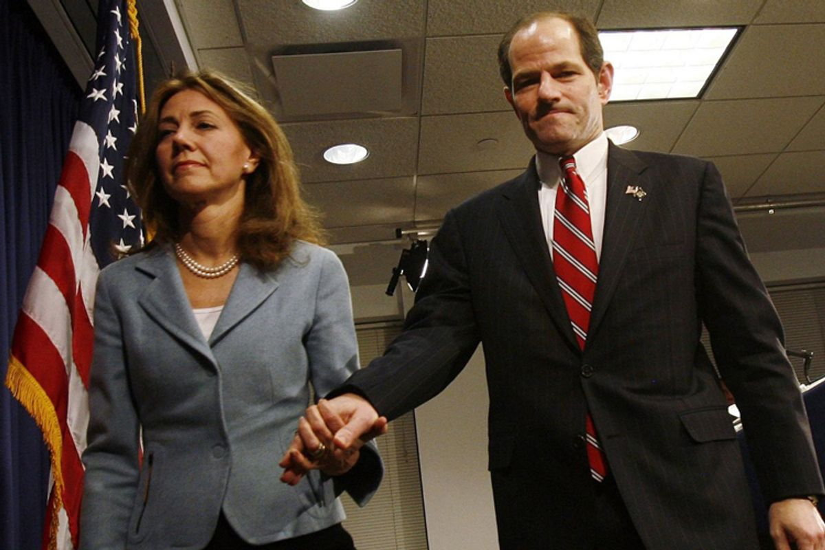 """Silda and Eliot Spitzer, in a scene from """"Client 9."""""""