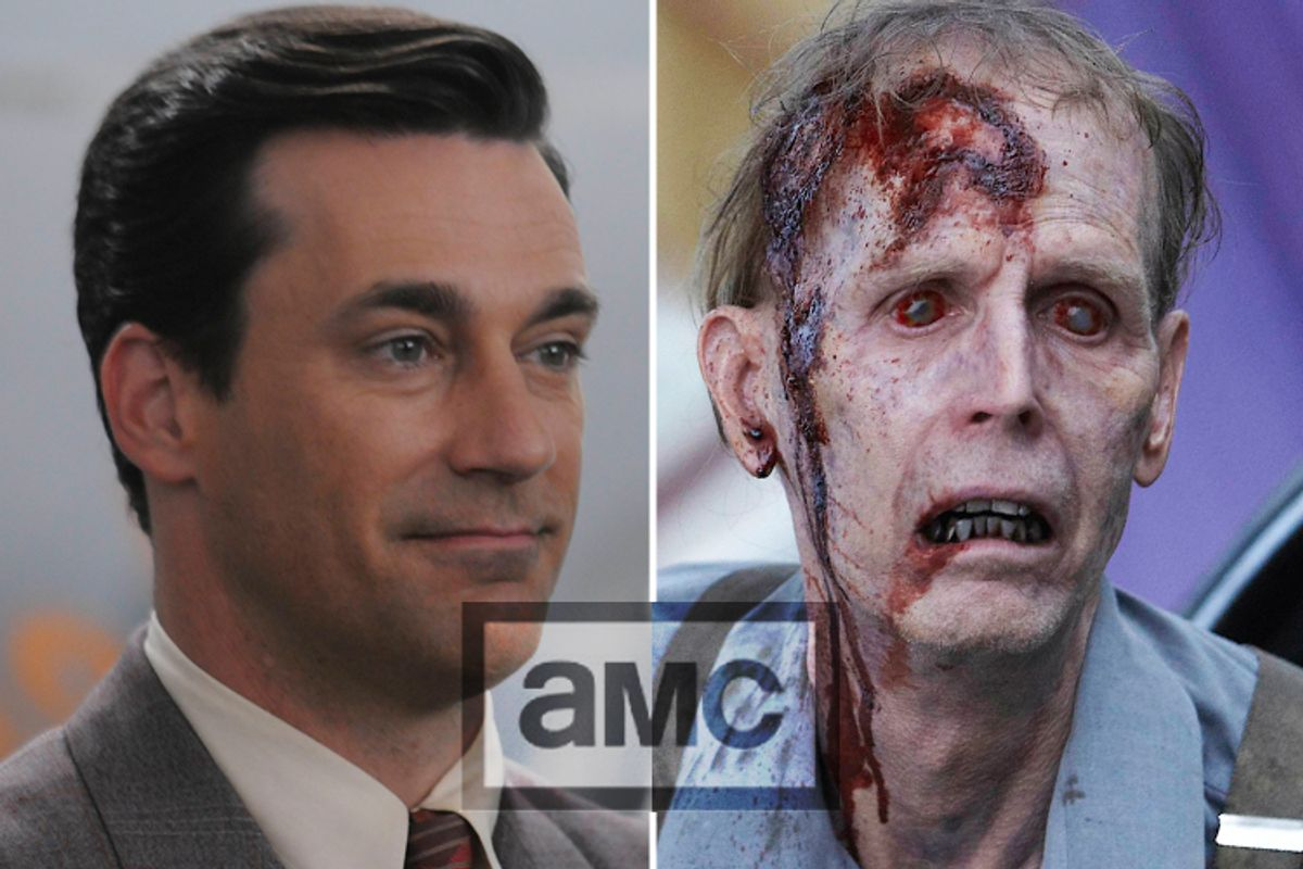 """Stills from """"Mad Men"""" and """"The Walking Dead"""""""