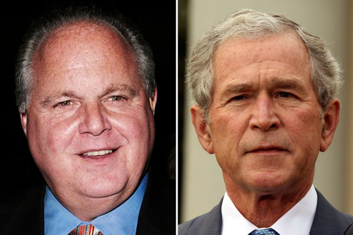 Rush Limbaugh and George W. Bush